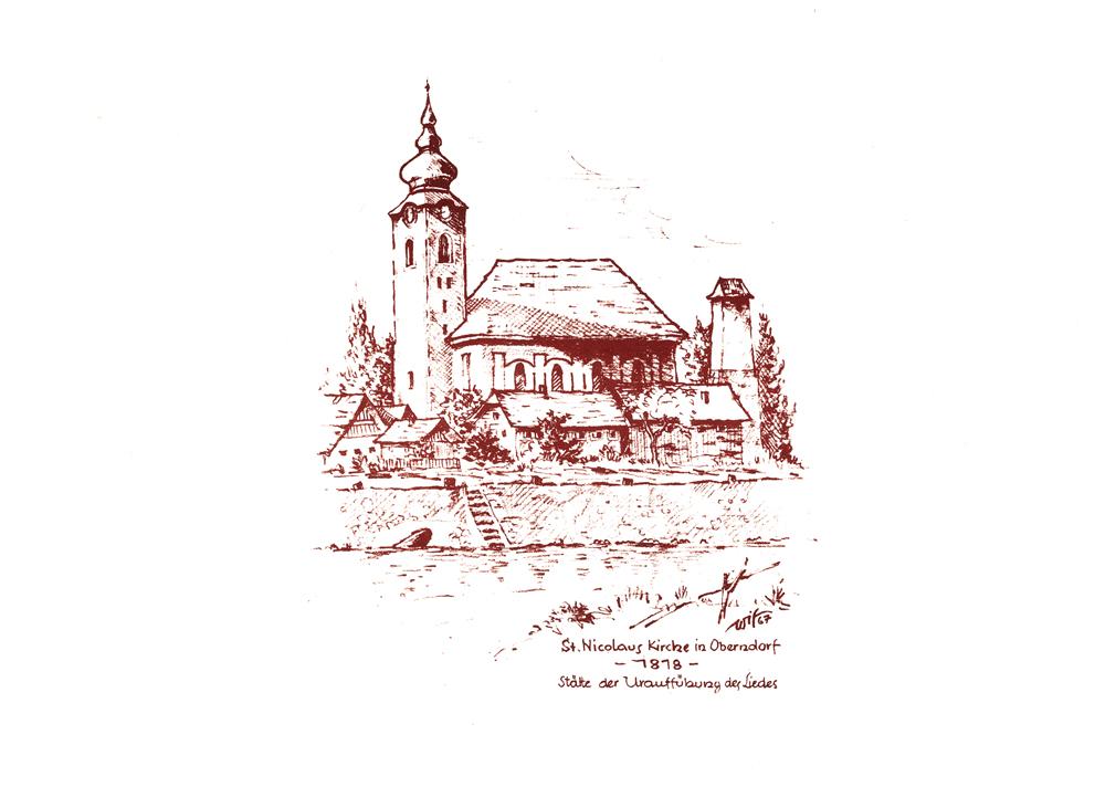 Kirche St. Nikola Oberndorf 1818