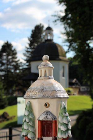 Stille Nacht Kapelle Porzellan klein