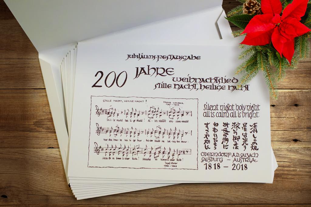Jubiläumsmappe 200 Jahre Stille Nacht – Originalversion