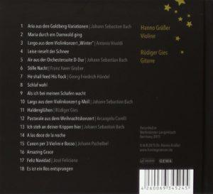 Stille Nacht CD - Violine und Gitarre - Rückseite
